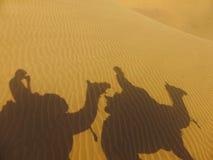 Riding a camel Royalty Free Stock Photo