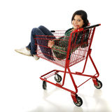 Riding the Cart Royalty Free Stock Images