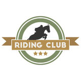 Riding club label Stock Photo