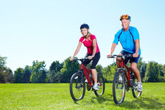 Riding couple. Stock Photo
