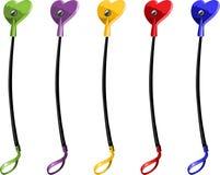 Riding-crop di colore con il giocattolo sessuale del cuore illustrazione di stock