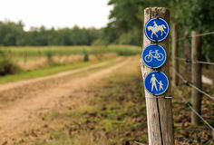 Riding, cycling, and walking Stock Photography