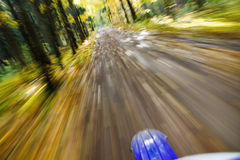 Riding dirtbike. Abstract motion blur. Stock Images