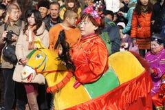Riding donkey Royalty Free Stock Image