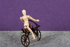 Riding a Draisiana bike. Stock Image