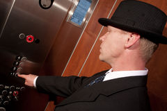 Riding elevator Royalty Free Stock Photo
