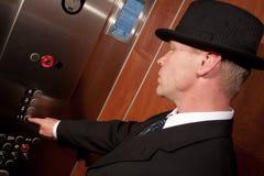 Riding elevator Royalty Free Stock Photo