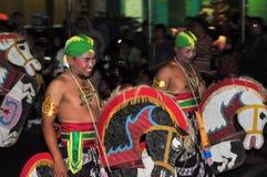Riding a fake horse, Yogyakarta city festival Stock Photography