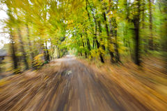 Riding fast. Abstract motion blur. Royalty Free Stock Photos
