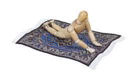 Riding Flying Carpet Royalty Free Stock Photography