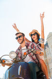 Riding with fun. Royalty Free Stock Photography