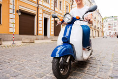 Riding with fun. Royalty Free Stock Images