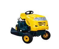 Riding garden tractor Royalty Free Stock Image