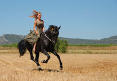 Riding girl Royalty Free Stock Photography