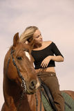Riding girl Royalty Free Stock Photos