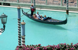Riding in a  gondola Royalty Free Stock Photos