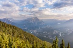 A bird`s eye view of Banff stock photo