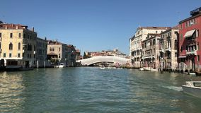 Riding Through Grand Canal, Venice stock footage