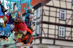 Riding hag. Hanging on clips in Wernigerode in Germany Stock Images