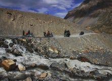 Riding in Himalaya. Spiti Valley Himachal Pradesh stock image