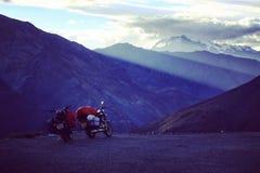 Riding in Himalaya. Spiti Valley Himachal Pradesh stock photos