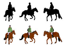 Riding a horse Royalty Free Stock Images