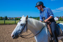 Riding horse Royalty Free Stock Photos