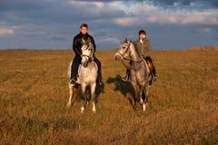 riding horseback стоковые изображения