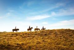 riding horseback Стоковые Фотографии RF