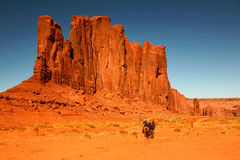 Riding Horses as Recreation in Monument Valley Ari Stock Photo