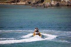 Riding the Jet Ski at sea Stock Image