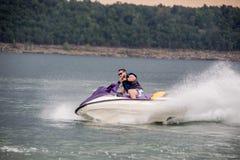 Riding a Jet ski. Royalty Free Stock Photography