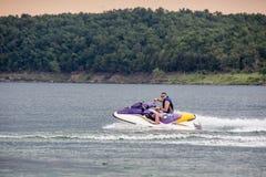 Riding a Jet ski. Stock Images