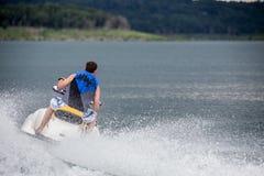 Riding a Jet ski. Royalty Free Stock Image