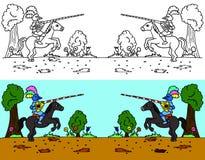 riding joust бесплатная иллюстрация