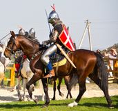 Riding knight Stock Images