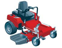 Riding Lawn Mower Stock Images