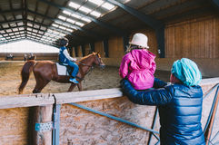 Riding lessons Royalty Free Stock Photos
