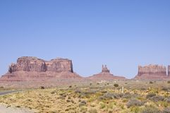 Riding into Monument Valley Stock Photo