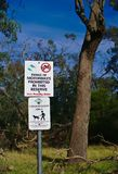 Riding of Motorbike Prohibited Sign stock images