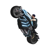 Riding a Motorcycle Stock Image