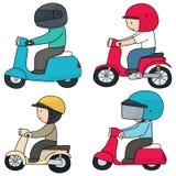 Riding motorcycle Royalty Free Stock Image