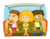 Riding with no seatbelts Royalty Free Stock Photo
