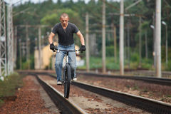Free Riding On Railways Rail Royalty Free Stock Images - 10970069