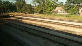 Riding Over the Tracks stock footage