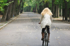 Riding in park Royalty Free Stock Photo