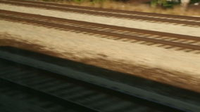 Riding Past The Tracks stock footage