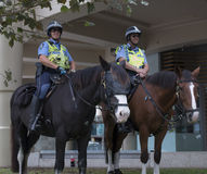 Riding police. Australian police officers on horses Stock Images