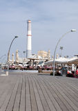 Riding power station from old tel aviv harbor Royalty Free Stock Photo