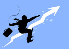 Riding the Profits. Illustration with a businessman riding his profits Royalty Free Stock Image